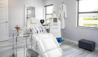 Experience The Contour Difference CoolSculpting Treatment Room