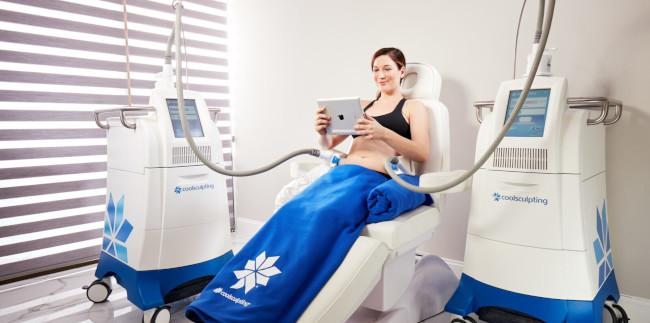 CoolSculpting Fat Reduction treatment at the contour Day spa in Venice Florida
